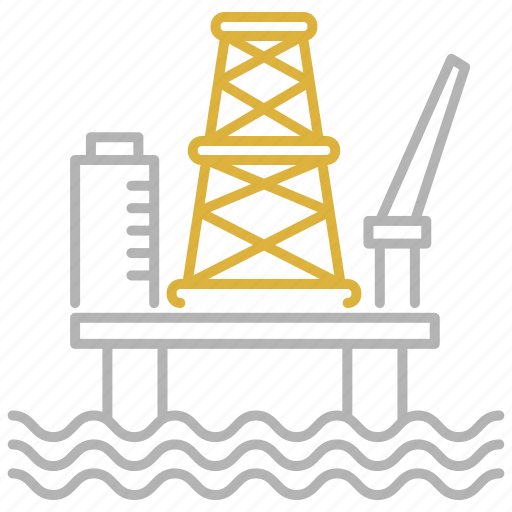 energy, industry, oil, platform, power icon