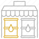 market, oil, shop, shopping, store icon