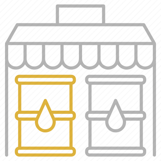 market, oil, shop, shopping, store icon