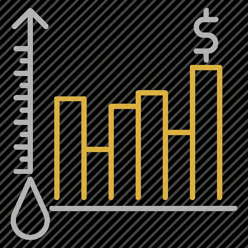 chart, graph, oil, petrol, price, report, statistics icon