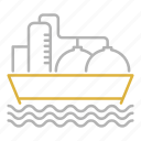 boat, oil, sea, ship, tanker, transport, transportation icon