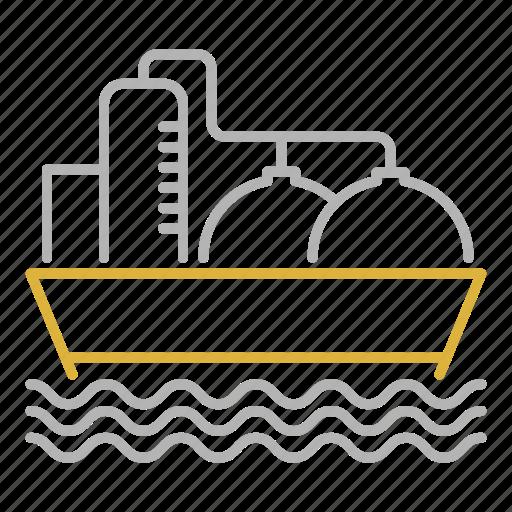 boat, oil, sea, ship, tanker, transport, transportation icon