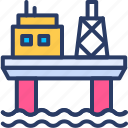 buildings, gas, industry, offshore, oil, oil rig, platform icon