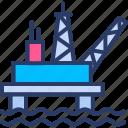 drilling, fuel, gasoline, offshore, oil, platform, pump icon