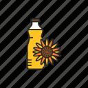 sunflower, oil, glass icon
