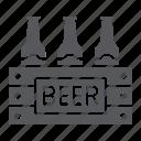 alcohol, beer, bottles, case, drink, pack icon