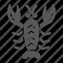 animal, crawfish, food, lobster, ocean, sea icon