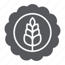 badge, beer, brewery, craft, drink, wheat icon