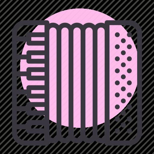 accordion, harmonica, music, oktoberfest icon