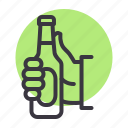 beer, bottle, cheers, party icon