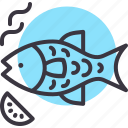 barbecue, fish, grill, meal icon