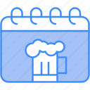 beer, calendar, date, drink, ferstival icon