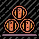 barrel, beer, oak, oktoberfest icon