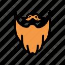 beard, fashion, hipster, moustache icon