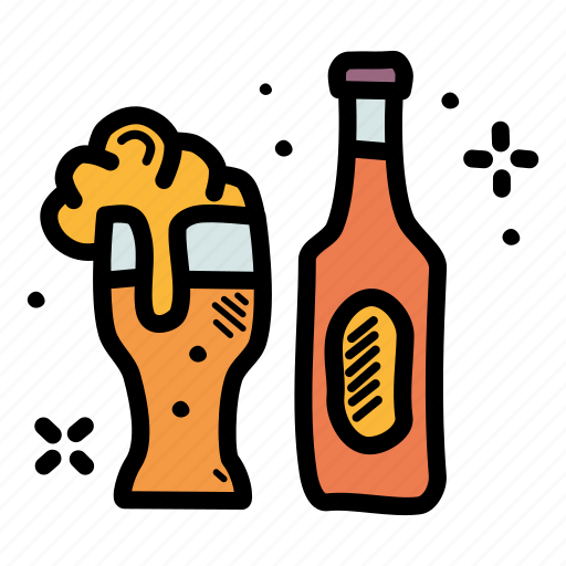 alcohol, beer, bottle, celebrate icon