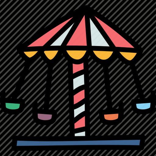 carousel, entertainment, festival, funfair icon