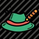 bavarian, cap, hat, oktoberfest icon