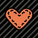festival, heart, oktoberfest, waffle icon