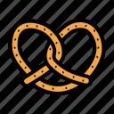 bavarian, oktoberfest, pretzel, snack icon