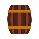 barrel, brown, container, old, storage, water, wood icon