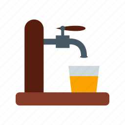alcohol, bar, barrel, beer, drink, pub, tap icon