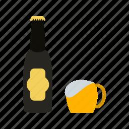 alcohol, beer, birthday, celebration, glass, party, splashing icon