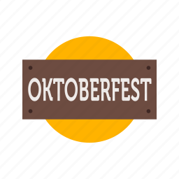 banner, beer, celebration, festival, oktoberfest, party, sign icon