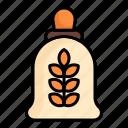 eat, food, rice, sacks, seeds, wheat