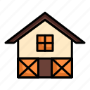 building, cage, estate, home, house, property, warehouse