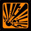 danger, explosive, hazard, hazard symbol, safety