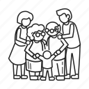 adults, concept, family, happy, home, together, united icon