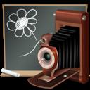 black board, camera, school
