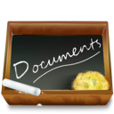 ardoise, documents, dossier icon