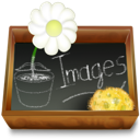ardoise, dossier, images icon