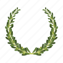 leaf, olive, plant, plexus, wreath