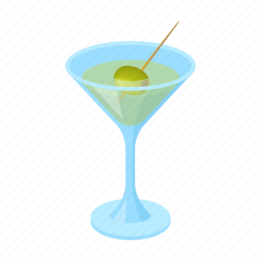 Alcohol Drink Glass Martini Olive Icon