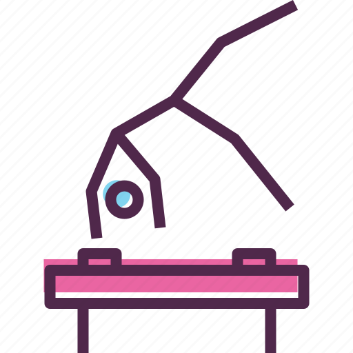 Artistic, games, gymnast, gymnastics, horse, olympics, pommel icon - Download on Iconfinder