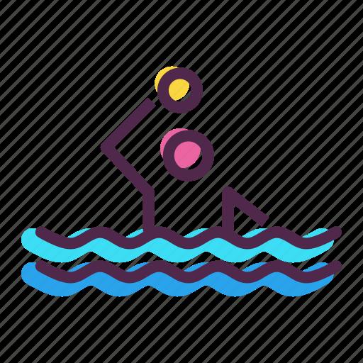 aquatics, games, olympics, polo, pool, sports, water icon
