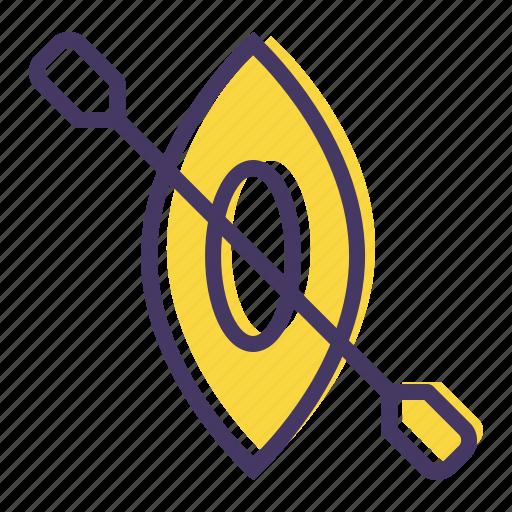 canoe, games, olympics, paddle, slalom, sports, water icon