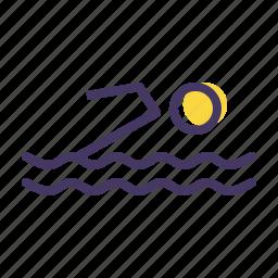 aquatics, games, olympics, pool, sports, swimming, water icon