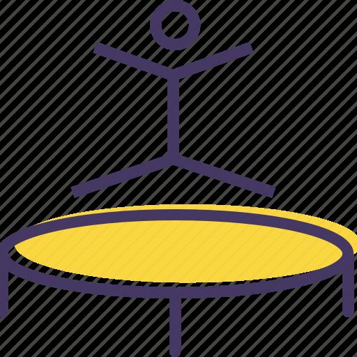 Fun, games, gymnast, gymnastics, jump, olympics, trampoline icon - Download on Iconfinder