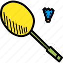 badminton, games, olympics, play, racket, shuttlecock, sports icon