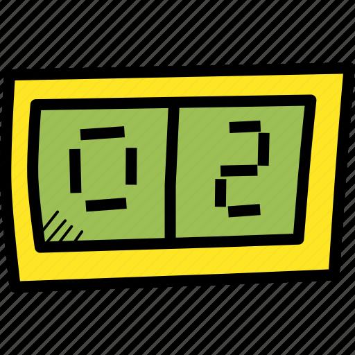 basketball, digital, display, football, games, score, sports icon