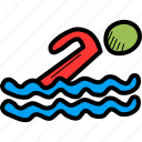 aquatics, games, olympics, pool, sports, swimming, water icon