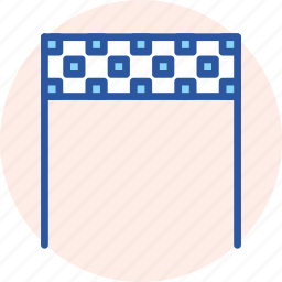 banner, checkered, end, finish, line, race, target icon