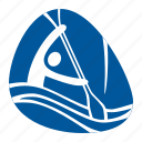 canoe, games, kayak, olympic, slalom, sport, water icon