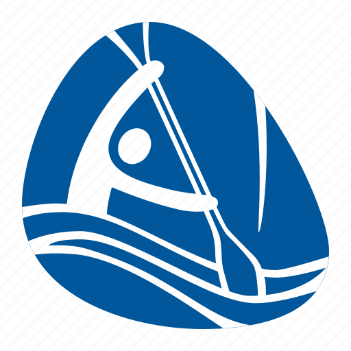 canoe, games, kayak, olympic, slalom, sport, water icon