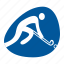 field, games, grass, hockey, hockey stick, olympic, sport icon