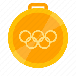 champion, games, gold, medal, olympic, winner icon