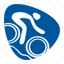 bike, biking, cycling, games, mountain, olympic, sport icon